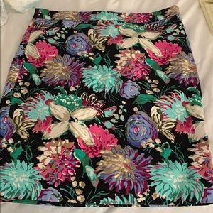 J. Crew Factory floral pencil skirt Corinth 6 NWT.